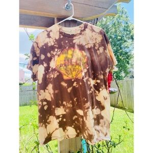 UPCYCLED Vintage Shell Gas Bleach Tie-Dye Tee 🐚
